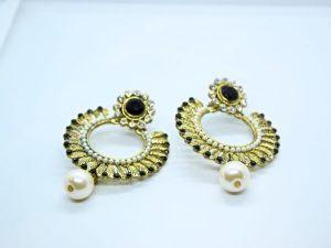 Black & White Drop Earring