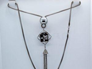 Black Tassel Necklace
