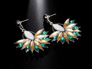 Flower Crystal Earring