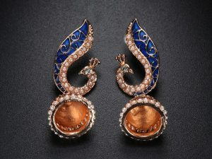 Peacock Drop Earring