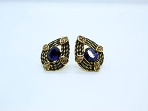 Dark Blue Stud Earring