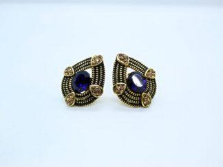 Dark Blue Stud Earring