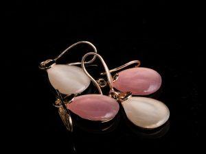 crystal water drop earring