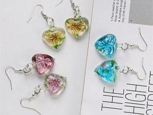 Heart-flower-drop-earring