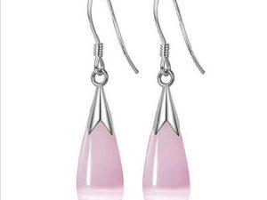 Pink Opal Dangle Earring