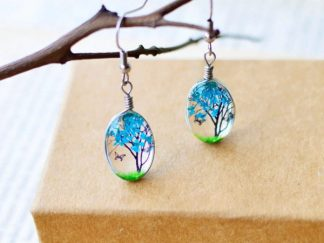 Plant-Drop-Earring-Blue