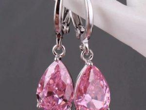 Pink-drop-Earring